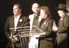 Clay, Andy May, Bill Wolfenbarger & Daniel Lilly accepting IBMA Recorded Event of the Year 2008